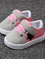 Черный / Розовый-Унисекс-Для прогулок / На каждый день-Синтетика-На плоской подошве-Удобная обувь-На плокой подошве