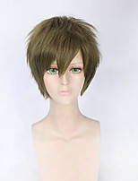 Fashion Short Curly Wig Green Color Synthetic Cosplay African American Wigs