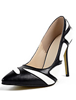Women's Shoes New Arrival Slip-on Black White Mixed Colors Heels/Pumps Pointed Toe Stiletto Heels Party/Dress Shoes