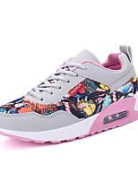 Unisex Sneakers Spring / Fall Comfort PU Casual Flat Heel Black / Blue / Pink Sneaker