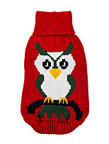Spiece Paws Fashion Owl Pattern Sweatershirts for Dogs and Cats (Assorted Colors, Assorted Size)