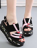 Women's Sandals Spring / Summer / Fall Creepers Leather Outdoor Flat Heel Others Black / Silver Others