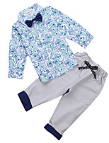 Boy's Casual/Daily Print Clothing SetCotton Spring / Fall Green