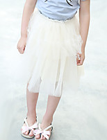 Girl's Casual/Daily Solid DressOthers Summer White