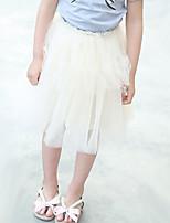 Mädchen Rock-Lässig/Alltäglich einfarbig Andere Sommer Weiß