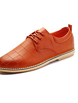 Men's Oxfords Spring / Fall Comfort PU Casual Flat Heel Black / Brown Sneaker