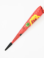 Halloween 1pc Red Henna Indian Paste Mehndi Cone Temporary Body Art Paint DIY Drawing Natural Plant Pigment
