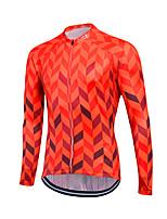 Fastcute® Camisa para Ciclismo Homens Manga Comprida Moto Mantenha Quente / A Prova de Vento Blusas Tosão Clássico Inverno Ciclismo/Moto