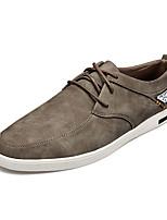 Черный Синий Серый Хаки-Мужской-Повседневный-Полиуретан-На плоской подошве-Удобная обувь-Кеды