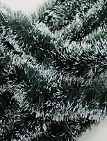 рождественские подарки украшение зеленый белый лента Гирлянда вершины марены елочные украшения