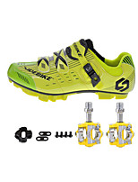 SD03 Cycling Shoes Unisex Outdoor / Road Bike Sneakers Yellow / Green-sidebike And Yellow Rock Pedals