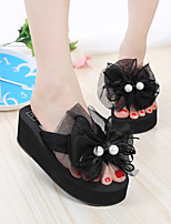 Women's Sandals Spring / Summer / Fall Sandals PU Casual Platform Flower Black / Pink Others