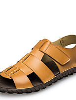 Men's Sandals Summer Sandals Leatherette Outdoor Flat Heel Others Blue / Yellow Others