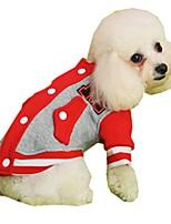 Chat / Chien Manteaux / Pulls à capuche / Sweatshirt Rouge / Jaune / Bleu / Gris / Rouge Rose Vêtements pour ChienHiver /