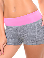 Штаны для йоги Шорты / Нижнее белье Шорты / Нижняя часть Дышащий / Быстровысыхающий / Сжатие видеоизображений Естественный Эластичность