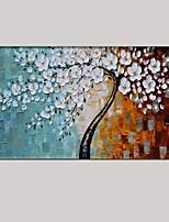 Ручная роспись Абстракция / Цветочные мотивы/ботанический Картины маслом,Modern / Классика / Пастораль / Европейский стиль 1 панель Холст