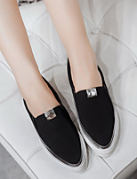 Women's Loafers & Slip-Ons Spring / Summer / Fall / Winter Comfort Fleece Casual Flat Heel Others Black / Gray Others