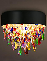 MAX25W Flush Mount Colorful Crystal Ceiling Chandelier