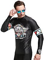 SBART® Муж. Топ для гидрокостюма Ультрафиолетовая устойчивость Эластан Терилен Водолазный костюм Длинные рукава Верхняя часть-Плавание