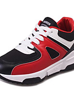 Da donna-Sneakers-Tempo libero / Casual-Comoda-Plateau-Tulle / Finta pelle-Nero / Bianco