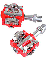 Bike Pedals Mountain Bike/MTB Non-Skid Red Aluminium Alloy 1-SIDEBIKE
