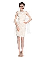 Sheath / Column Mother of the Bride Dress - Elegant Knee-length Sleeveless Lace with Lace