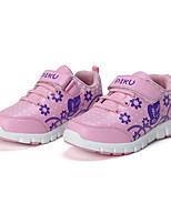 Розовый-Для девочек-Повседневный-Микроволокно-На плоской подошвеКеды