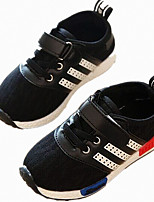 Unisex Flats Spring / Fall Round Toe Tulle Casual Flat Heel Others / Hook & Loop / Lace-up Black / Pink / Red