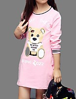 Girl's Casual/Daily Print Tee,Cotton Spring / Fall Black / Pink / Red / Gray