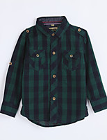 Boy's Casual/Daily Houndstooth ShirtCotton Fall Green