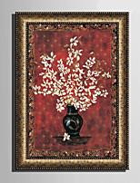 E-HOME® Framed Canvas Art, Flower In Vase Framed Canvas Print One Pcs