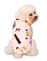 Lovely Cartoon Sheep Printing Fleece Coat for Pets Dogs (Assorted Sizes and Colours)