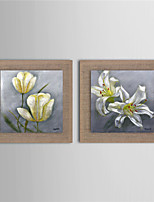 2 Panel Wall Art Pictures Oil Painting On Linen Home Decoration Abstract White Flower Artwork Picture Decor Painting