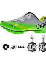 Cycling Shoes Unisex Outdoor / Mountain Bike Sneakers Damping / Cushioning Green / Gray-sidebike