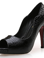 Women's Sandals Peep Toe / Platform / Styles Synthetic / Patent Leather Wedding / Party & Evening / Dress