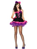 Costumes Déguisements d'animaux Halloween Violet Mosaïque Térylène Robe / Plus d'accessoires