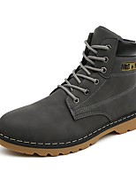 Men's Boots Fall / Winter Comfort / Round Toe / Closed Toe  Casual Flat Heel Lace-up Black / Brown / Gray Walking