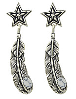Earring Star / Leaf Jewelry Women Fashion Party / Daily / Casual Alloy 1 pair Silver KAYSHINE