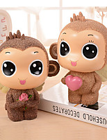 Medium Wings Monkey Piggy Piggy Rose Love Couple Resin Decoration Christmas Gift