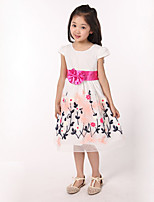 Girl's Going out Print Dress,Polyester Summer Multi-color