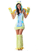 Costumes Animal Costumes Halloween Light Green Patchwork Terylene Dress / More Accessories