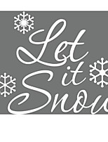 Xmas37&% Merry Christmas Let It Snow Diy Removable Wall Decals Waterproofing Pvc Wall Sticker New Year Party Decor