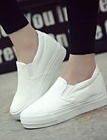 Черный / Белый-Женский-Для прогулок / На каждый день-Полотно-На плоской подошве-Удобная обувь-Мокасины и Свитер