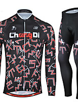Sports Cycling Jersey with Tights Unisex Long Sleeve BikeBreathable / Quick Dry / Anatomic Design / Ultraviolet Resistant / Wearable / 3D