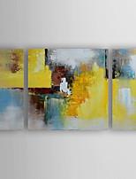 Ручная роспись Абстракция Картины маслом,Modern 3 панели Холст Hang-роспись маслом For Украшение дома