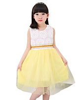 Girl's Casual/Daily Solid Dress,Others Summer Multi-color
