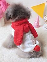 Katzen Hunde Kostüme Kapuzenshirts Hundekleidung Winter Frühling/Herbst Karton Niedlich Cosplay Rot Rosa