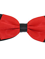 Adjustable Men Wedding Party Double Layer Silk Bowtie Bow tie
