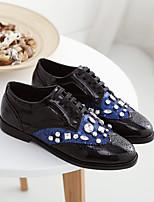 Синий / Белый-Женский-На каждый день-Полиуретан-На низком каблуке-Удобная обувь-Мокасины и Свитер