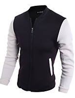Men's Long Sleeve Casual / Work / Formal / Sport / Plus Size JacketCotton / Acrylic / Spandex Patchwork /